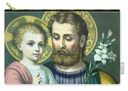 Joseph And Baby Jesus Carry-all Pouch