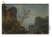 Joseph Vernet   A River With Fishermen Carry-all Pouch