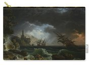 Joseph Vernet   A Shipwreck In Stormy Seas Carry-all Pouch