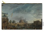 Joseph Vernet   A Sporting Contest On The Tiber At Rome Carry-all Pouch