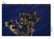 Joshua Tree And Star Trails Carry-all Pouch by Steve Gadomski