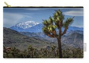 Joshua Tree In Joshua Park National Park With The Little San Bernardino Mountains In The Background Carry-all Pouch
