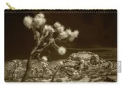 Joshua Trees And Boulders In Infrared Sepia Tone Carry-all Pouch