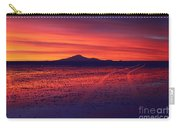Journey Across The Salar De Uyuni At Sunset Carry-all Pouch