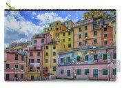 Joy In Colorful House In Piazza Di Riomaggiore, Cinque Terre, Italy Carry-all Pouch