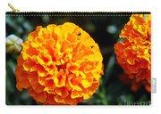 Joyful Orange Floral Lace Carry-all Pouch