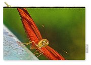 Julia Heliconian Butterfly Spreading Its Wings In Iguazu Falls National Park-brazil  Carry-all Pouch