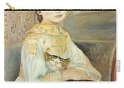 Julie Manet With Cat Carry-all Pouch by Pierre Auguste Renoir