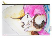 July Kitty In Rachaels Lap Carry-all Pouch