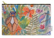 Jungle Scene With Monkey Carry-all Pouch