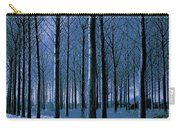 Jungle Trees In Blue  Carry-all Pouch