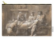 Jupiter And Mercury In The House Of Baucis And Philemon Carry-all Pouch