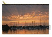 Just A Sliver Of The Sun - Sunrise God Rays At The Marina Carry-all Pouch