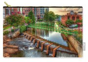 Just Before Sunset Reedy River Falls Park Greenville South Carolina Art Carry-all Pouch