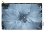 Blue Hibiscus Floral Portrait Carry-all Pouch