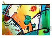Just Having Fun Original Pop Art Abstract Painting By Madart Carry-all Pouch