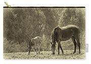 Just Like Mom - Sepia Carry-all Pouch
