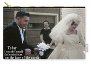 Just Married Today Quote Carry-all Pouch