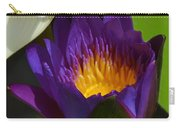 Just Opening Purple Waterlily -  Square Carry-all Pouch