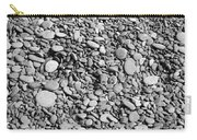 Just Rocks - Black And White Carry-all Pouch