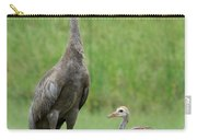 Juvenile Sandhill Crane With Protective Papa Carry-all Pouch