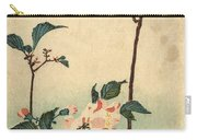 Kaido Ni Shokin II - Small Bird On A Blossoming Branch II Carry-all Pouch