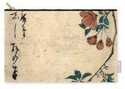 Kaido Ni Shokin - Small Bird On A Branch Of Kaidozakura Carry-all Pouch