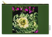 Kale With Petunias Carry-all Pouch