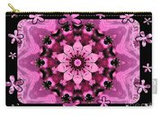 Kaleidoscope 1 With Black Flower Framing Carry-all Pouch