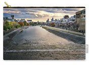 Kamo River Kamo-gawa In A Beautiful Sunset Autumn Scenery In Kyo Carry-all Pouch