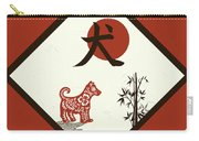 Kanji Dog On Red Carry-all Pouch