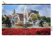 Kansas City Fountain Ablaze In Crimson Carry-all Pouch
