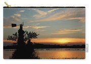 Kansas Sunset And Windmill Carry-all Pouch
