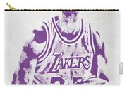 Kareem Abdul Jabbar Los Angeles Lakers Pixel Art Carry-all Pouch