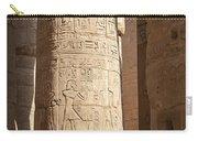 Karnak Pillar Carvings Carry-all Pouch