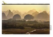 Karst Mountains Scenery In Sunset Carry-all Pouch