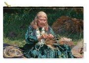 Kashia Pomo Woman Weaving Basket Carry-all Pouch