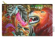 Kate The Zebra And  Lion Carousel  Carry-all Pouch