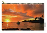Kauai Sunset And Boat At Anchor Carry-all Pouch