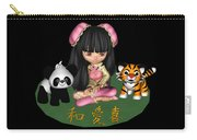 Kawaii China Doll Friends Panda And Tiger Carry-all Pouch