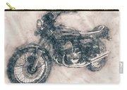 Kawasaki Triple - Kawasaki Motorcycles - 1968 - Motorcycle Poster - Automotive Art Carry-all Pouch