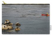 Kayakers And Seal Lions Carry-all Pouch