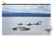 Kayakers Paddle To Fishing Cone On Yellowstone Lake Carry-all Pouch