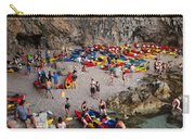 Kayaks On A Beach Carry-all Pouch