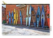 Kayaks On A Wall  Carry-all Pouch