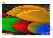 Kayaks On The Beach Carry-all Pouch