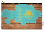 Kazakhstan Rustic Map On Wood Carry-all Pouch