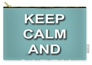Keep Calm And Carry On Poster Print Teal Background Carry-all Pouch