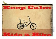 Keep Calm Ride A Bike Carry-all Pouch