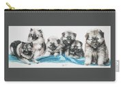 Keeshond Puppies Carry-all Pouch